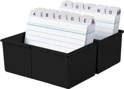 HAN kaartenbakken, A7 liggend, zwart.