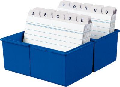 HAN Karteikasten, Kunststoff, DIN A7 quer, blau