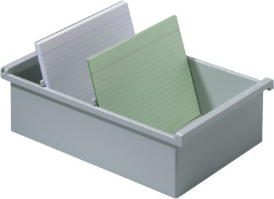 HAN Karteitrog, Kunststoff, A4 quer, grau
