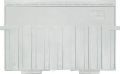 HAN kunststof tabbladen voor kaartenbak, A5 liggend, grijs, 5 stuks