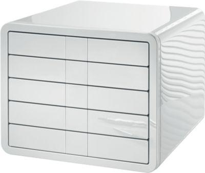 HAN Schubladenbox i-Line, 5 Schübe, Kunststoff, weiß