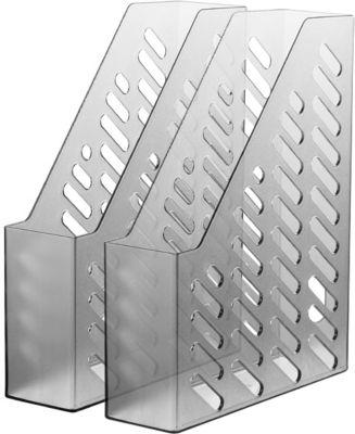 HAN Stehsammler, Breite 76 mm, Kunststoff, 2 Stück, transluzent-grau