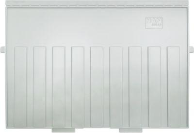 HAN Stützplatte, DIN A4 quer, für Karteitröge, 5 Stück, grau