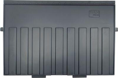 HAN Stützplatte, DIN A4 quer, für Karteitröge, 5 Stück, schwarz
