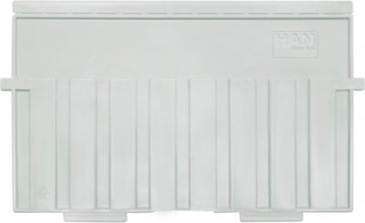 HAN Stützplatte, DIN A5 quer, für Kartei-/Einsatz-/Einhängetröge, 5 Stück, grau