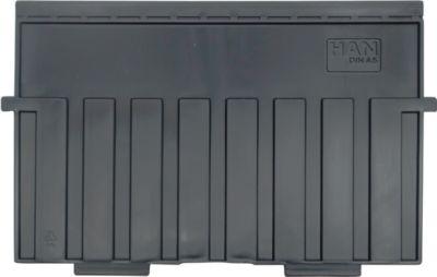HAN Stützplatte, DIN A5 quer, für Kartei-/Einsatz-/Einhängetröge, 5 Stück, schwarz