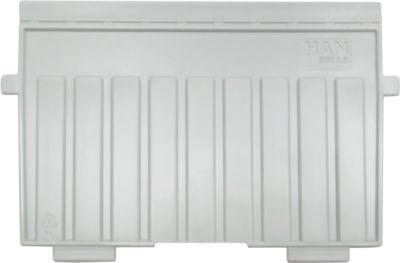 HAN Stützplatte, DIN A6 quer, für Karteitröge, 5 Stück, grau