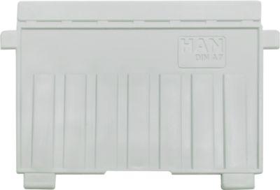 HAN Stützplatte, DIN A7 quer, für Karteitröge, 5 Stück, grau