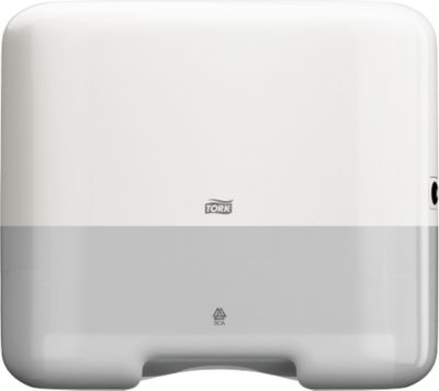 Handdoekdisp. Zickzackfalzung mini, wit