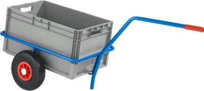 Handkar handwagen van stalen buizen, met kunststof bekleding, krasbestendig, draagvermogen 200 kg