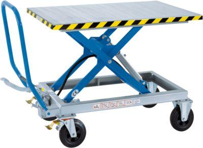 Handmatige verrijdbare schaarheftafel Hebefix HF 2-500, draagvermogen 500 kg