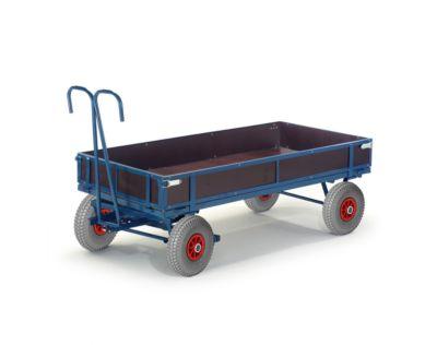 Handpritschenwagen, mit Bordwänden, Luftreifen, 1160x760 mm