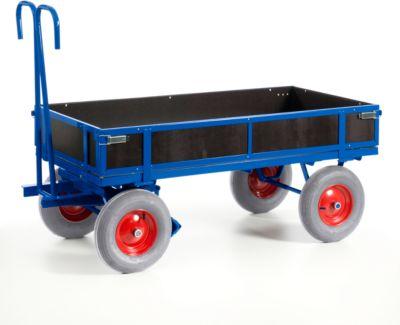 Handpritschenwagen, mit Bordwänden, Luftreifen, 1560x760 mm