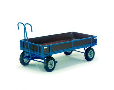 Handpritschenwagen mit Bordwänden, Räder aus Vollgummi, 1960 x 960 mm