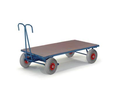 Handpritschenwagen, ohne Bordwände, 1200 x 800 mm, Luftreifen