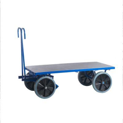 Handpritschenwagen, ohne Bordwände, 1200 x 800 mm, Vollgummi