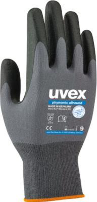 Handschuhe Uvex phynomic allround, Polyamid/Elastan, Aqua-Polymer-Schicht, EN 388 (3 1 3 1), 10 Paar, Gr. 9