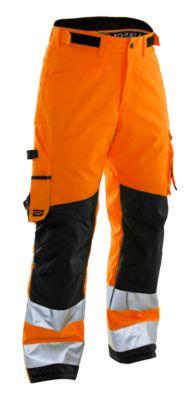 handwerkbroek winter oranje/zwart D124