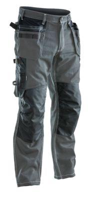 Handwerker Hose   dunkelgrau/schwarz C146