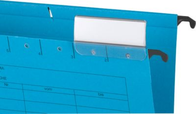 Hangmappen met canvas A4, blauw, 25 stuks