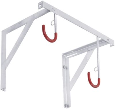 Hangparker WSM, enkelzijdig, voor banden tot B 65 mm, B 500 x D 350 x H 350 x H 350 mm, bescherming tegen diefstal, staal, 2 ophangplaatsen