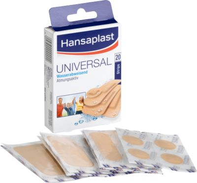 Hansaplast<sup>®</sup> strips water resistant