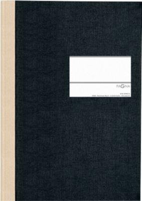 Hartdeckel-Broschüren/Geschäftsbuch, A5, kariert, schwarz