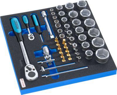 HAZET Steckschlüsselsatz mit Knarre für Schrankserie FS4 , 46-tlg., in Hartschaumeinlage