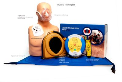 HeartSine Defibrillator Trainings-Komplett-Paket SAM 500P, Trainer mit Fernbedienung