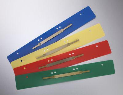 Hechtstrips PP, gekleurd, A4, met metalendekblad, diverse kleuren,100 stuks