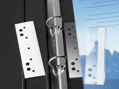 Heftstreifen, Kunststoff, selbstklebend, kurz, 50 Stück, transparent