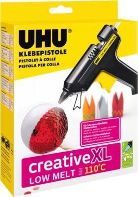 Heißklebepistole UHU Creative LOW MELT 110°C, inkl. 4 Klebepatronen, 40 W