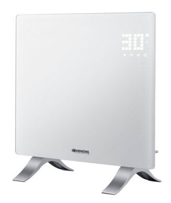 Heizgerät VIDRO 1000, Leistung 1000 W, IP24, Touch-Steuerung & Fernbedienung, B 515 x T 185 x H 570 mm, weiß