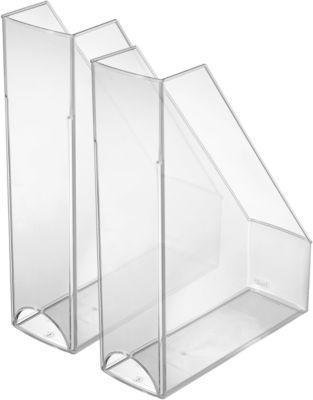 HELIT Stehsammler, DIN A4 -C4, Polystyrol, 2 Stück, glasklar