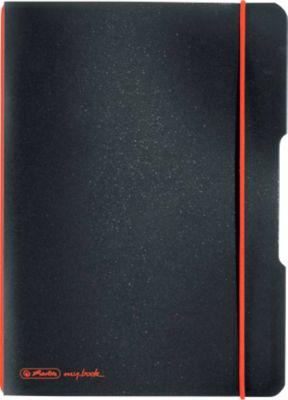 Herlitz Notizbuch my.book, Format DIN A5, Kunststoff, 40 karierte Blätter, schwarz