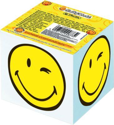 Herlitz Notizklotz Smiley, Notizzettel weiß, seitlicher Motivdruck, 700 Blatt