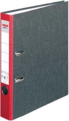 herlitz Ordner maX.file nature, DIN A4, Rückenbreite 50 mm, rot