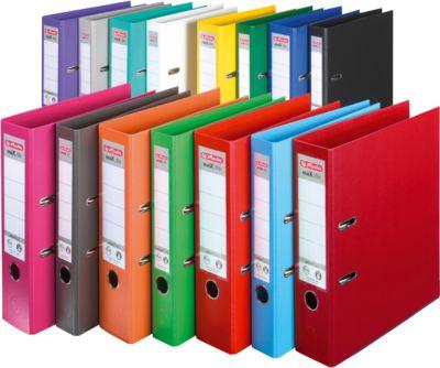 HERLITZ ordner maX.file protect plus, A4, 50 mm, karton PP, blauw