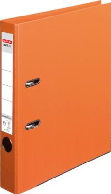 HERLITZ ordner maX.file protect plus, A4, 50 mm, karton PP, oranje