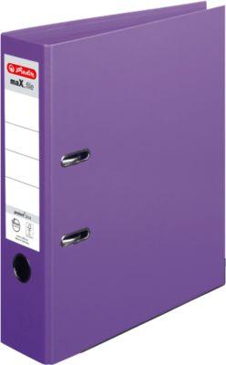 HERLITZ ordner maX.file protect plus, A4, 80 mm, karton PP, 10 stuks, violet