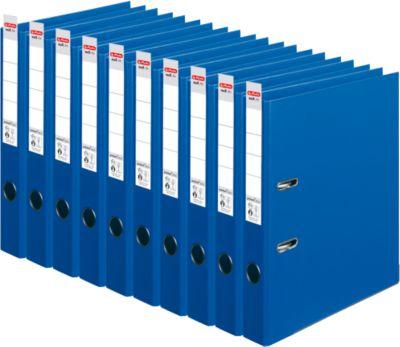 herlitz Ordner maX.file protect plus, DIN A4, Rückenbreite 50 mm, 10 Stück, blau