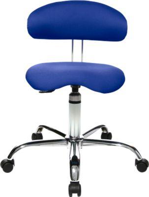 Hocker Sitness 40, 3-dimensional beweglich, blau