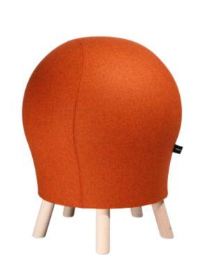 Hocker Sitness Alpine, mit integriertem Gymnastikball, Bezug 75 % Schurwolle, orange