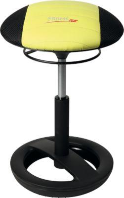 Hocker Sitness RS Bob, bewegliches Sitzen, höhenverstellbar, ergonomisch, schwarz/grün
