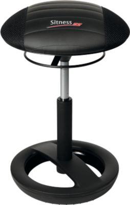Hocker Sitness RS Bob, bewegliches Sitzen, höhenverstellbar, ergonomisch, schwarz/schwarz