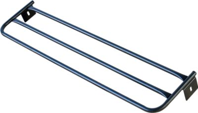 Hoedenplank v. garderobebanksysteem, 2000 mm, staal, antr.
