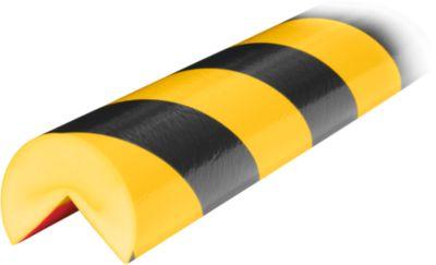 Hoekbesch.profielenType A+ geel/zwart 1m