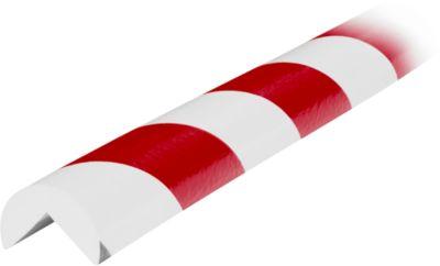 Hoekbescherming type A, rol van 5 meter, wit/rood