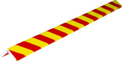 Hoekbeschermingsprofiel Knuffi®-Flex, 1 m. stuk, rood/neeuw, 1 m.