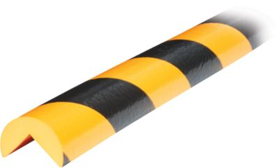 Hoekbeschermingsprofiel type A, 1 m. stuk, geel/zwart